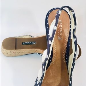 Sperry Shoes - Sperry Polka Dot Wedge Sandals